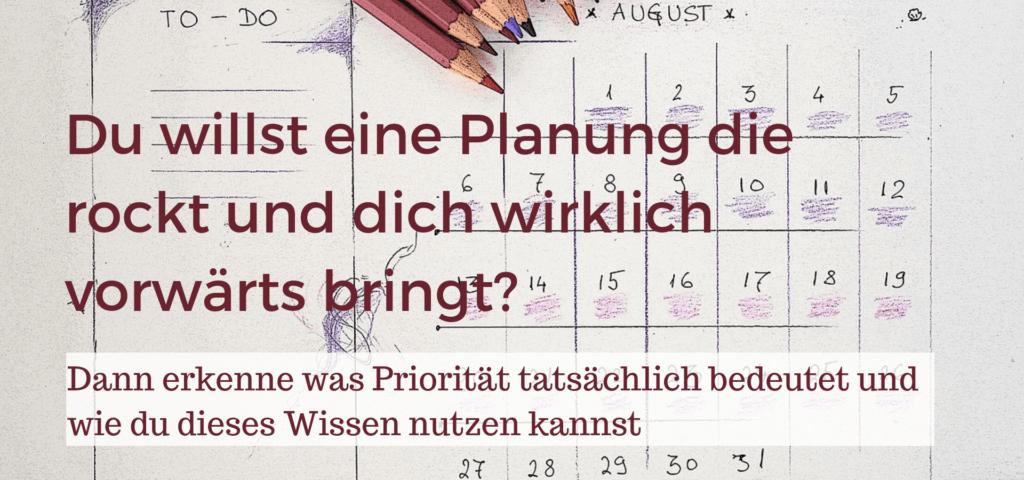 Planung die rockt