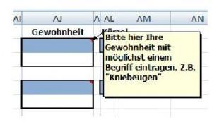 Excel Doku Gewohnheit