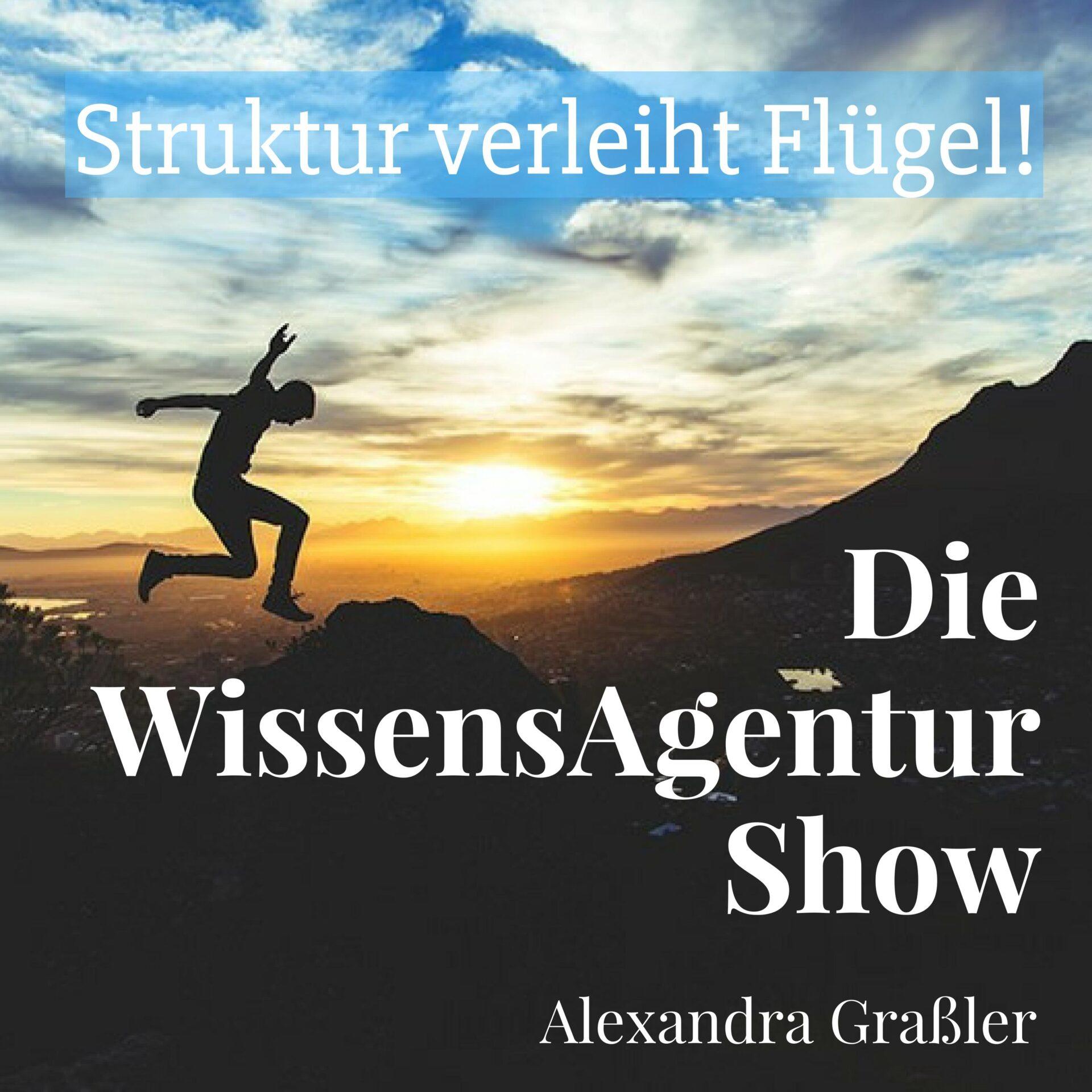 Podcast Die WissensAgentur Show mit Alexandra Graßler | Selbstmanagement und Struktur