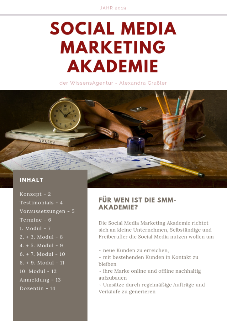 Social Media Marketing Akademie 2019 Deckblatt