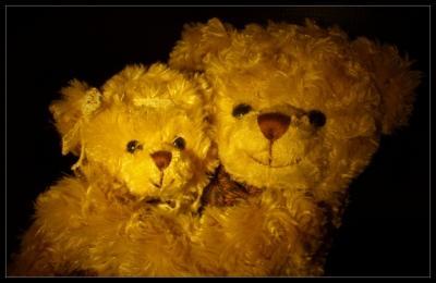Teddyumarmung macht gute Laune
