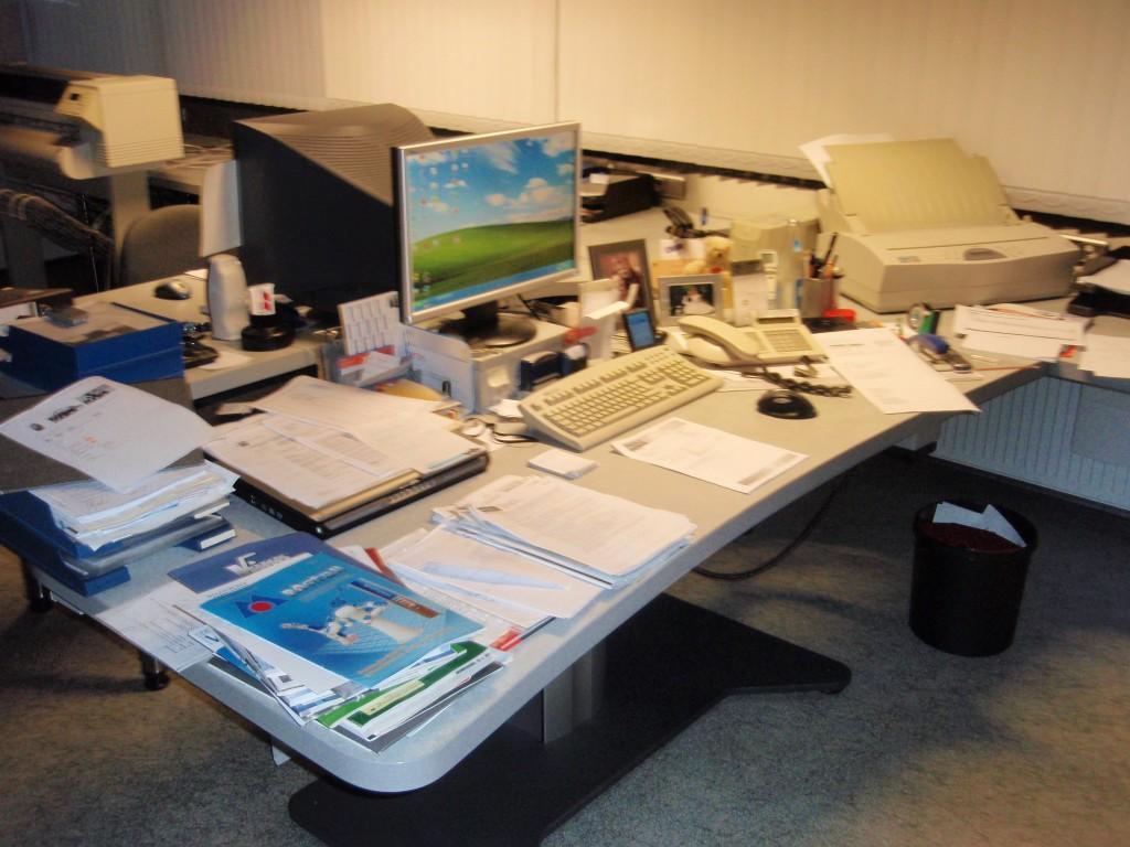 Schreibtischchaos